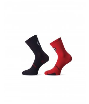 Assos Носки tiburuSock_evo8 / twin pack national Red