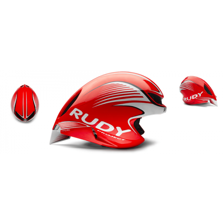 Rudy Project Wing57 Red Fluo White Shiny
