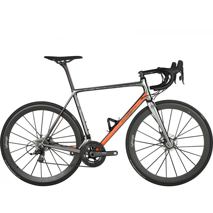 Officine Mattio Granfondo Disc Sram Red Etap Silver Orange 2018