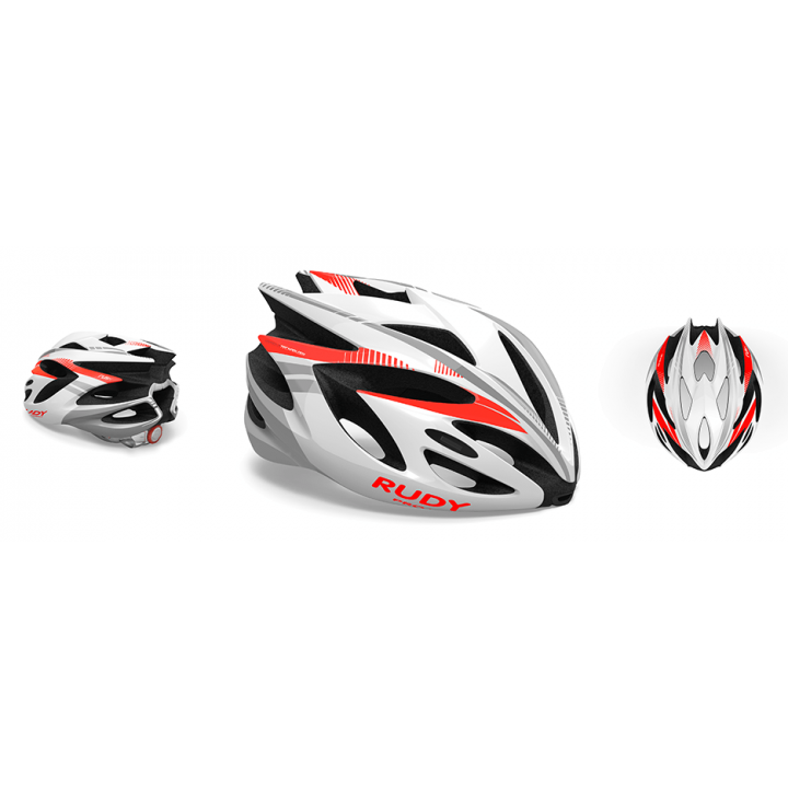 Rudy Project Rush White Red Fluo Shiny