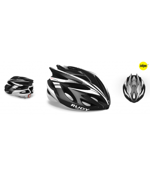 Rudy Project Rush Black White Shiny Mips