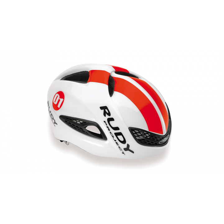 Rudy Project Boost 01 White Red Fluo Shiny
